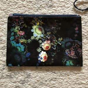 Cynthia Rowley Bags - Gorgeous black floral nylon cosmetic makeup bag